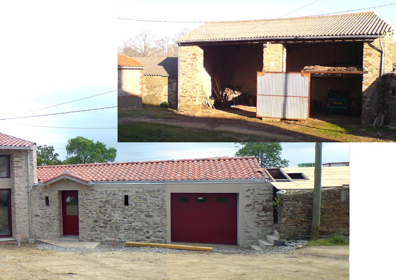 Projet 10 Rehabilitation D Une Grange En Maison D Habitation